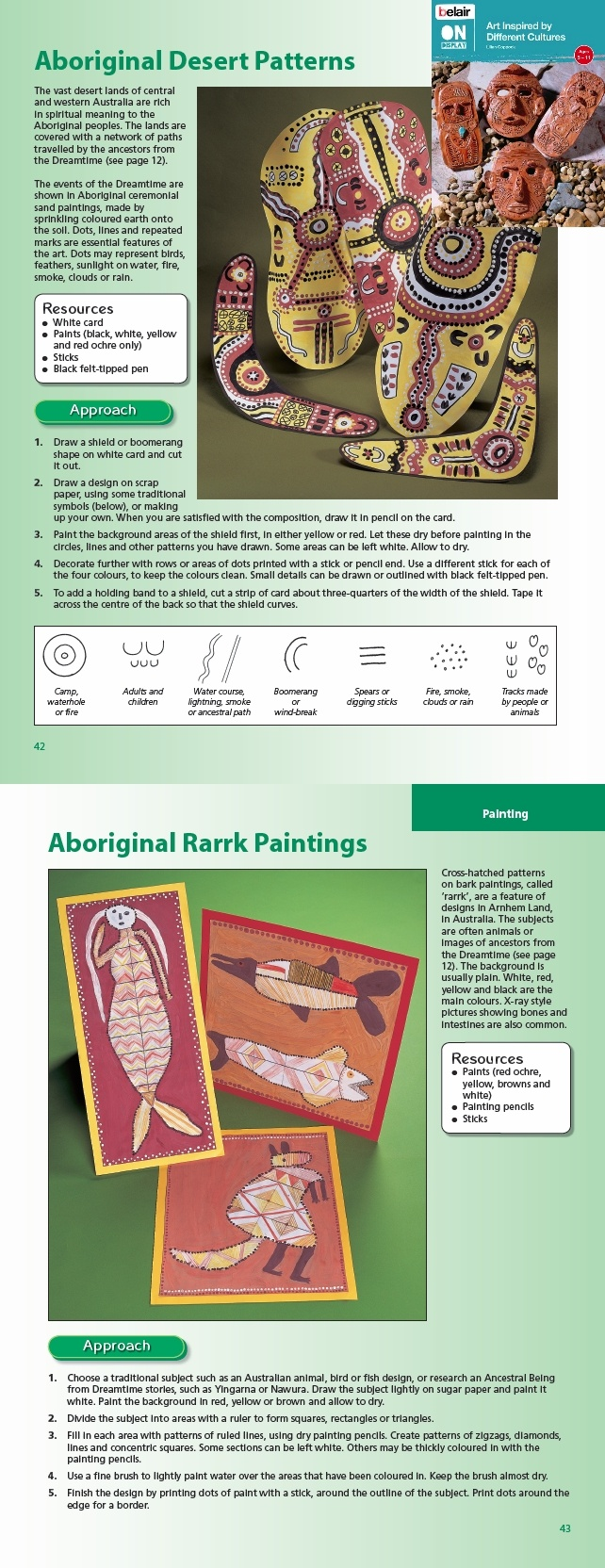 Lovely activity exploring aboriginal art - taken from Belair On Display Art Inspired by Different Cultures