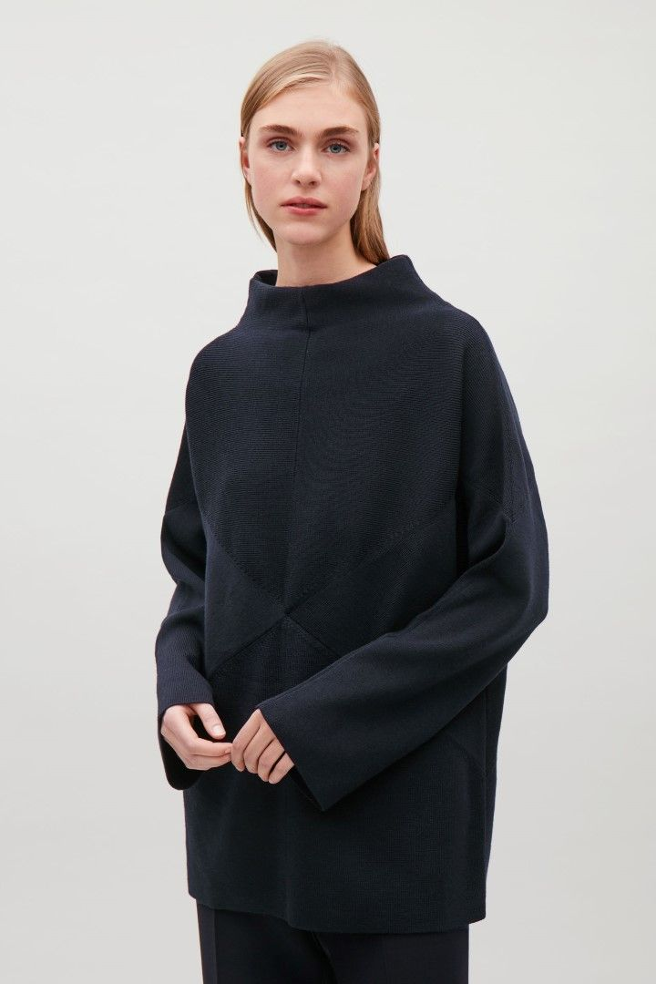 COS image 1 of Jumper with contrast panels in Navy