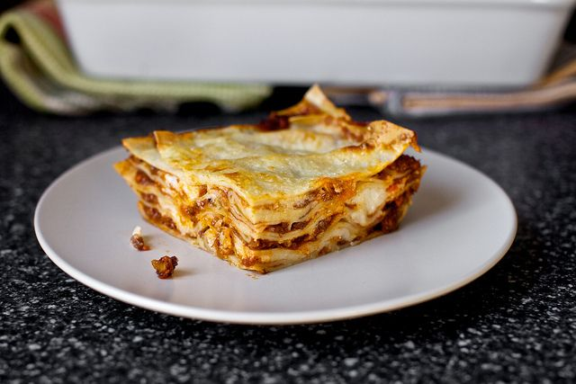 I made this lasagna bolognese from Smitten Kitchen and it is delicious. And far more gooey than pictured! #lasagna