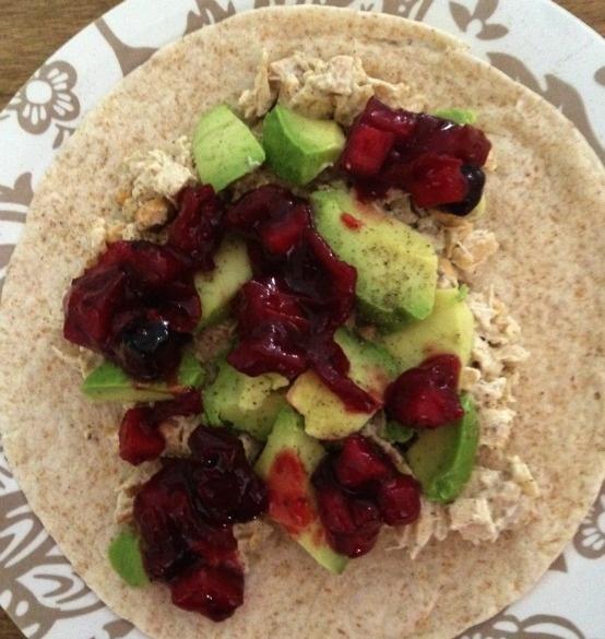 , Cashew, Avocado & Cranberry Chutney Wrap~ Prepare chicken salad ...