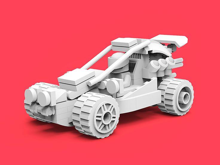 Lego Car/Clay render by tolitt