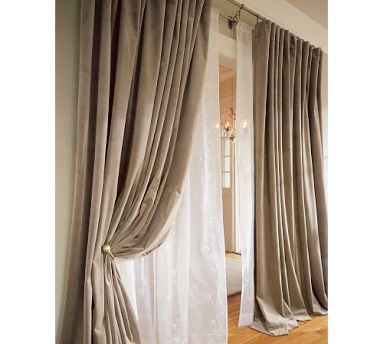 pottery barn sahara drapes | Pottery Barn velvet drapes would be a nice option for winter, $229~