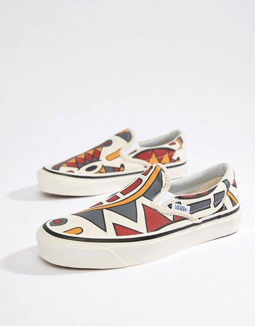 0a6b8184ce Vans Anaheim Printed Slip-On Sneakers in 2019
