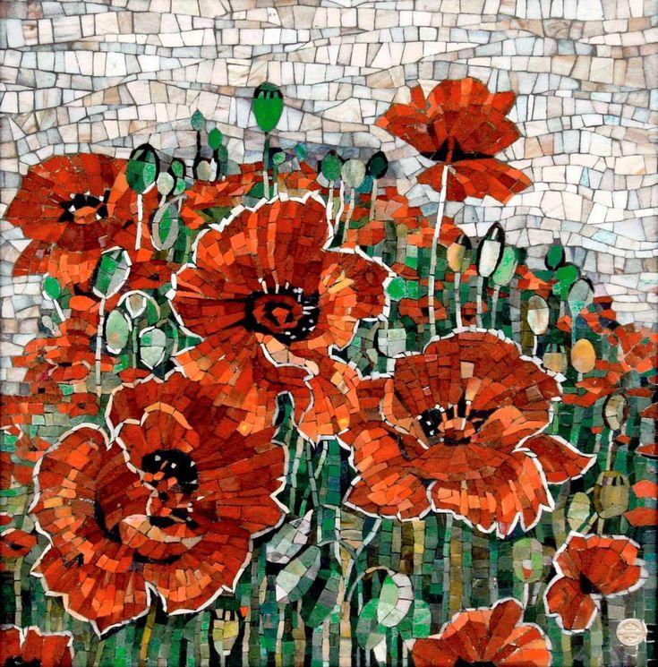 Мозаичная картина - poppy mosaic