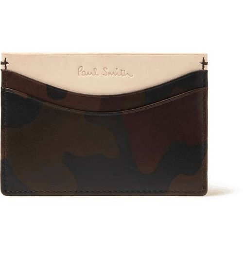 Paul Smith Shoes & Accessories | Camouflage-Print Leather Card Holder #mens #camo #cardholder #mensaccessories #menswear #mensstyle #mensfashion #paulsmith