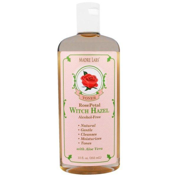 Madre Labs, Witch Hazel Toner, Rose Petal, Alcohol Free, 12 fl oz (355 ml)