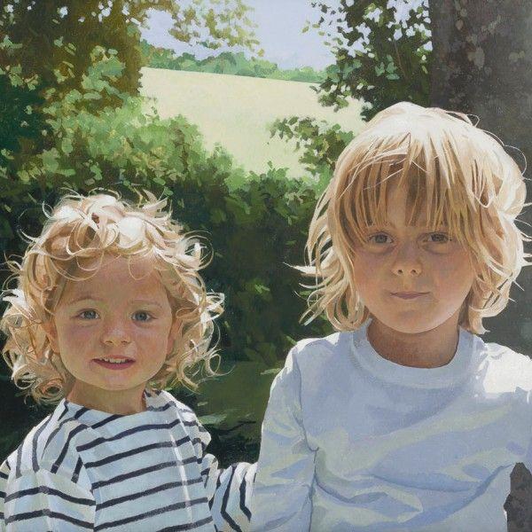 Paul Brason – Felix and Lucien. Oil. 51 x 61cm.