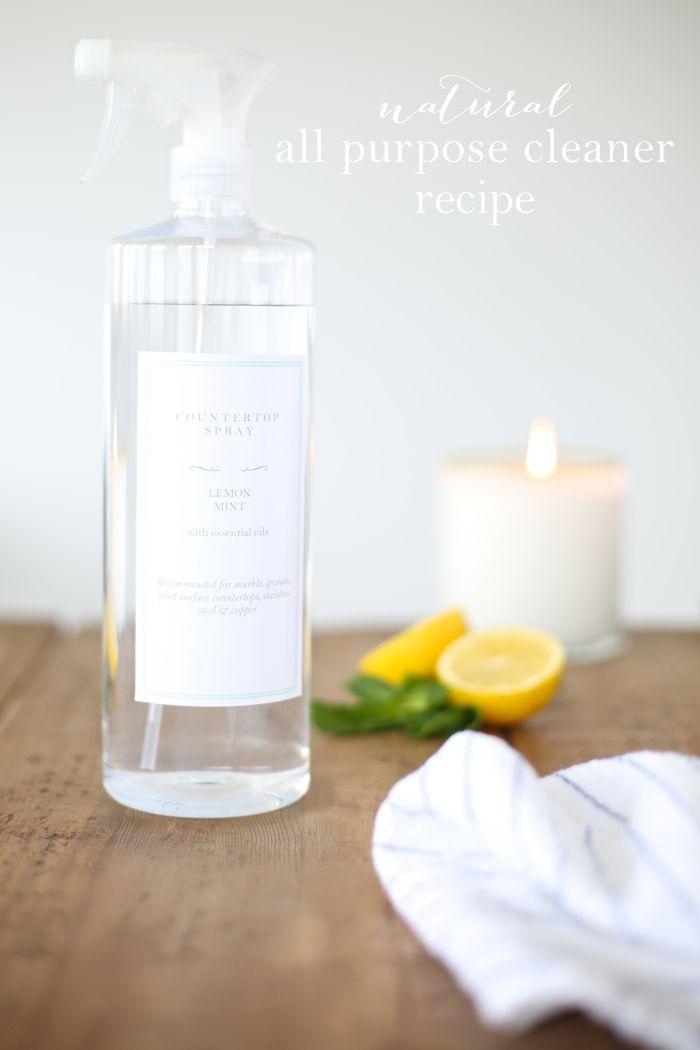 3 ingredient natural all purpose cleaner recipe @julieblanner