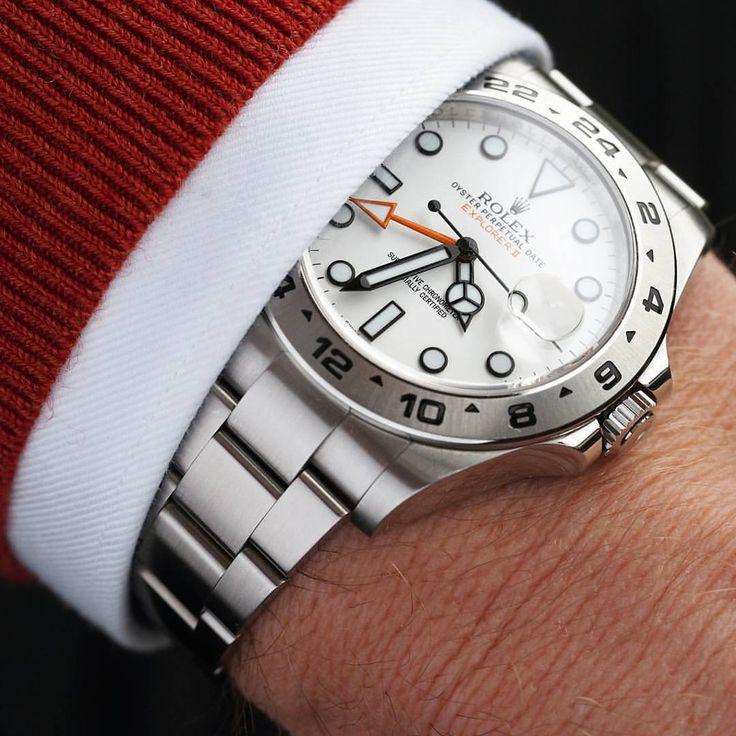 Rolex Explorer II | #WRISTPORN by @loevhagen | www.wristporn.com