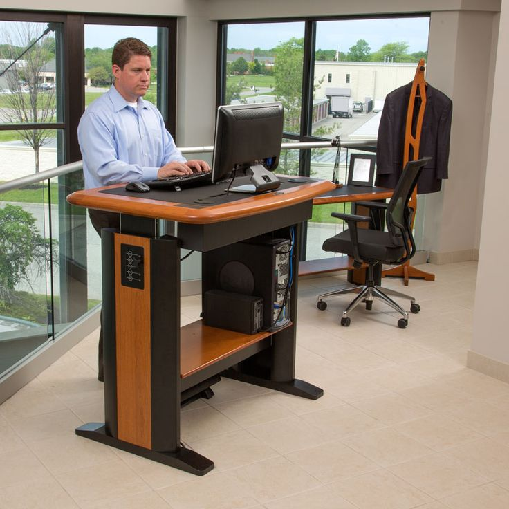 14 best standing desks images on pinterest music stand standing desks and computer desks. Black Bedroom Furniture Sets. Home Design Ideas