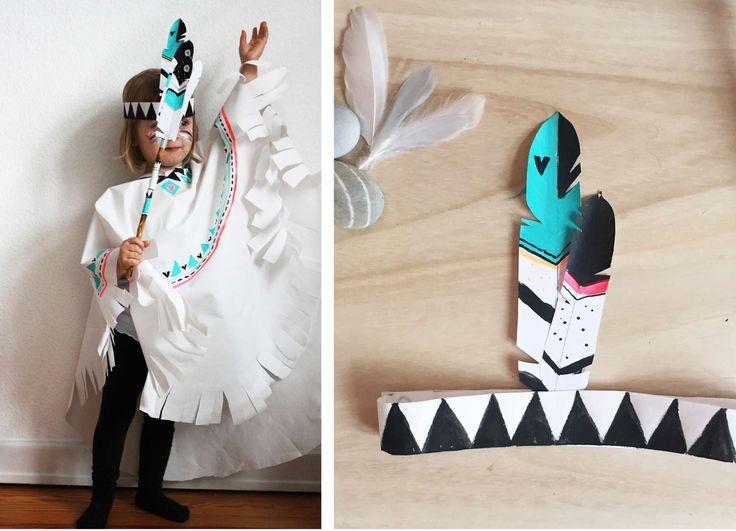DIY // Indianer Umhang zum Karneval schnell Selbermachen, und das ganz ohne…