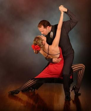 Ballroom dance Tango … frames are broken, lunge is too deep.  Produces bad lines.  Learn your dance!