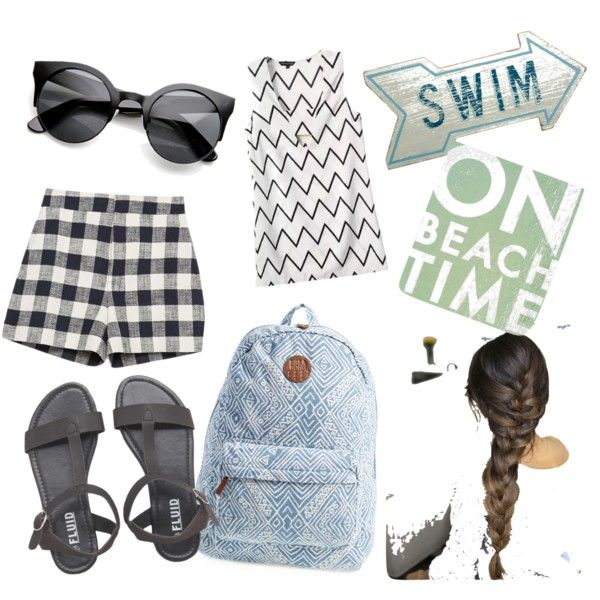 Untitled #14 by hanifahcandra on Polyvore featuring polyvore fashion style Zara Billabong Go Jump in the Lake Dot & Bo