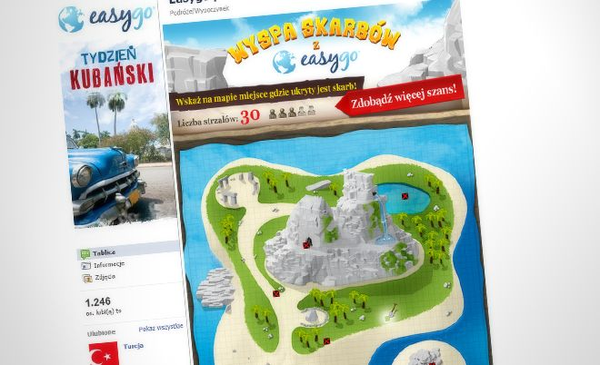 Easygo: Win a trip in Facebook competition - Jamel Interactive interactive agency Gdansk, Tricity