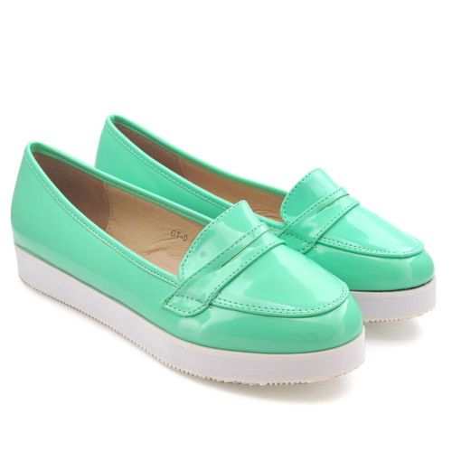 NEW WOMENS FLAT PLATFORM LADIES LOAFER CREEPER BROGUE PATENT CASUAL PUMPS SHOES | eBay