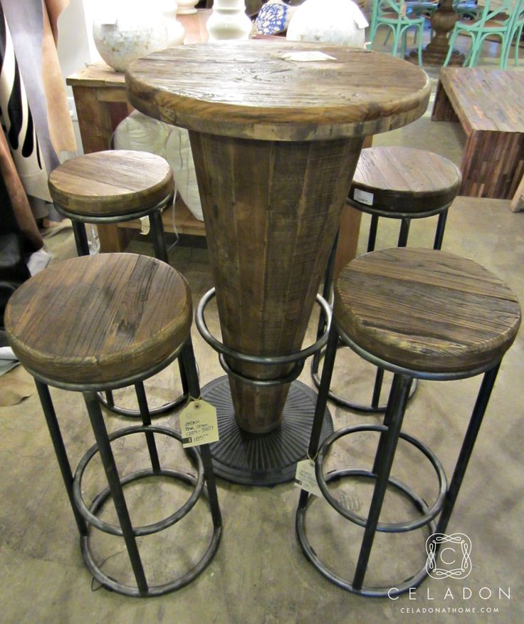 Morella Wood Pub Table $599 1225-51003416 I celadonathome.com
