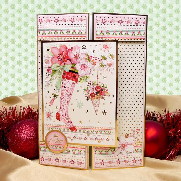 Warmest Wishes by Hunkydory Crafts. Card made using 'Stocking Surprise' topper set http://www.hunkydorycrafts.co.uk/acatalog/Stocking-Surprice-Lucury-Topper-Set-XHEART903.html#SID=296