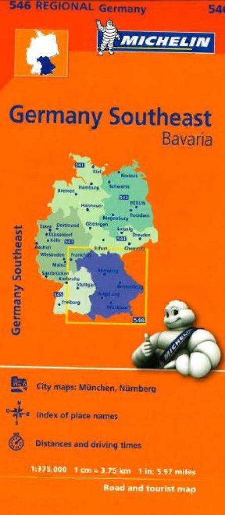 Buy map: Germany, Southeast (546) by Michelin Maps and Guides – YellowMaps Map Store