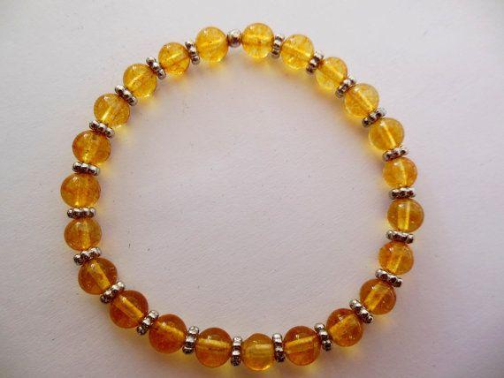 Citrine Gemstone Bracelet by Sunstone Craft by SunstoneCraft