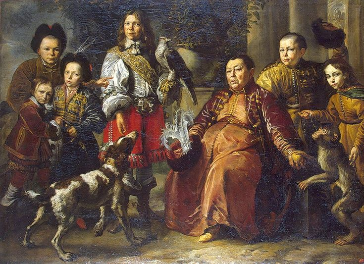 Krymski sokolnik króla Jana Kazimierza z rodziną - 1664 - malował: Daniel Schultz (1615-1683)