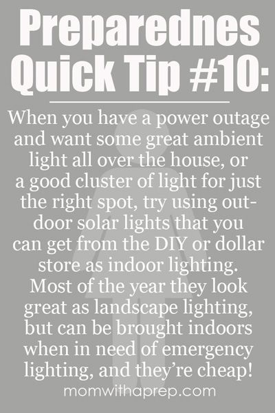 Use Outdoor Solar Lighting as Indoor Lighting During Power Outages  sc 1 st  Pinterest & 25+ unique Emergency lighting ideas on Pinterest | DIY candle ... azcodes.com