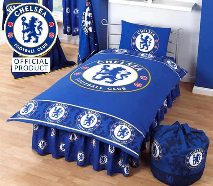 Chelsea FC Single Duvet Set I can see my first son having this as a bedroom set up.
