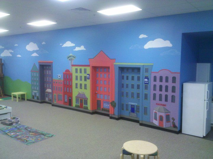city mural--would be great for a playroom!