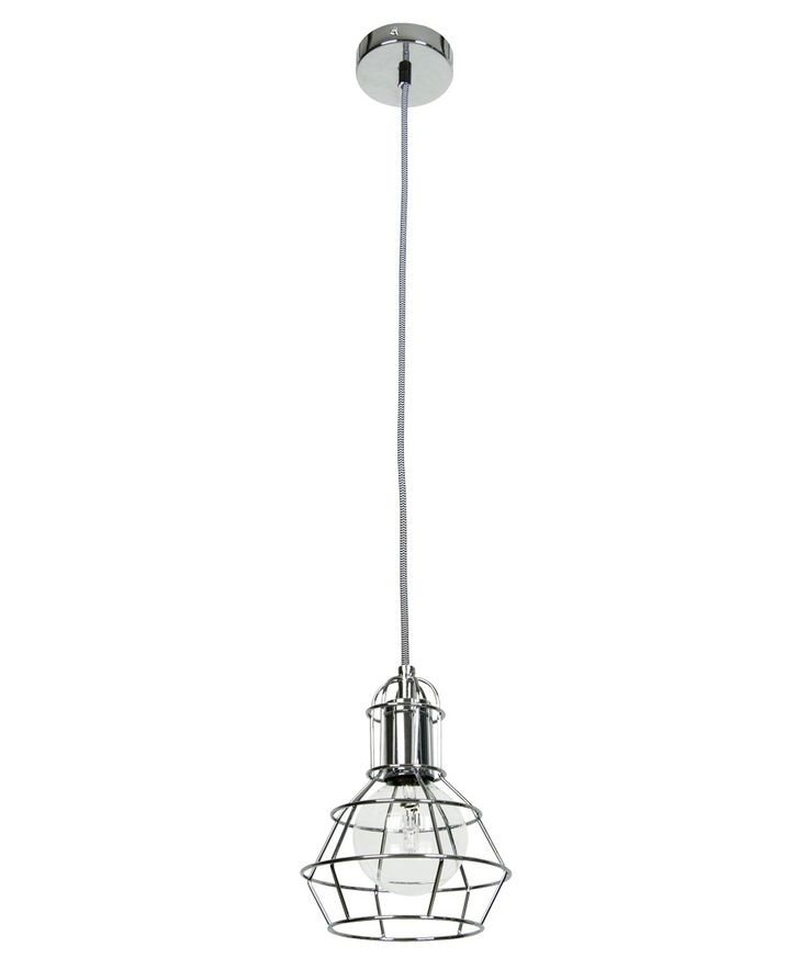 Mechanics 1 Light Cage Pendant in Chrome up to 70W