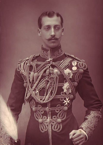 Prince Albert Victor, Duke of Clarence (1864-1892). He was the first son of Edward VII and his wife, Alexandra. He was therefore second in line to the throne when he died in 1892, as Queen Victoria was still reigning. He was, at the time, engaged to Princess Mary of Teck, who eventually married his younger brother (the future George V). He died of influenza.