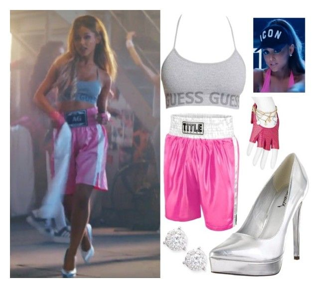 """""""Get the Look: Ariana Grande"""" by ericapereiradia ❤ liked on Polyvore featuring GUESS, Louis Vuitton, Mémoire and Luichiny"""