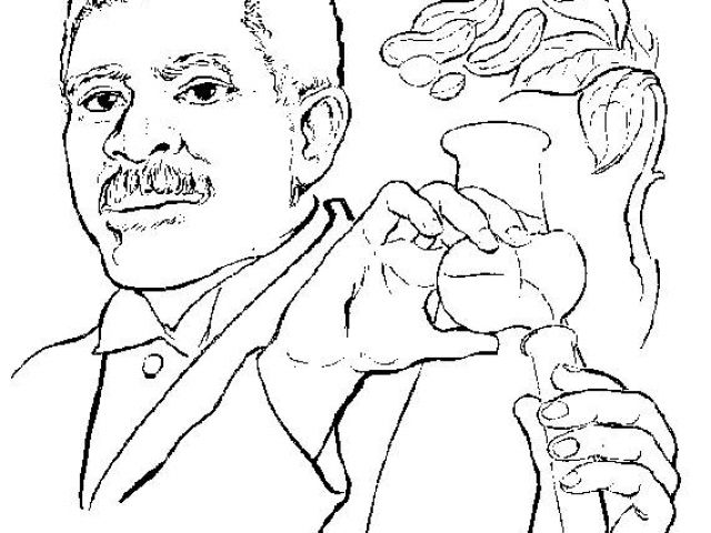 Georgewashingtoncarver Curious George Coloring Pages George Washington Carver Coloring Pages
