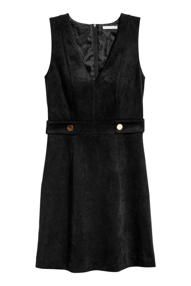 V-aukkoinen mekko - Musta - Ladies | H&M FI 1