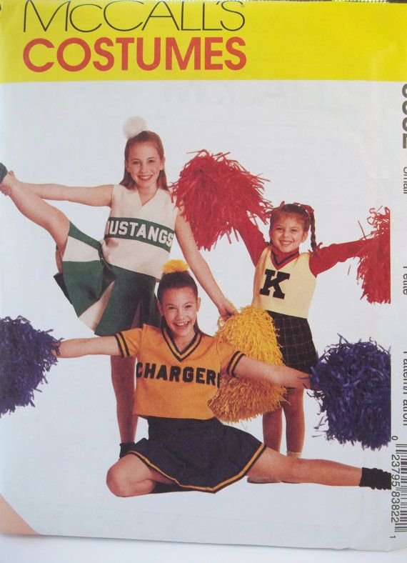 Girl's Cheerleader Costume McCall's Sewing by WitsEndDesign