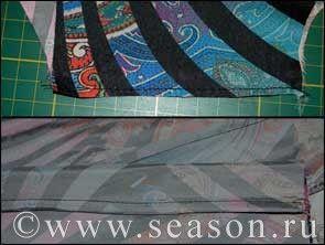 Швы для шитья шёлковых тканей  Французский шов на шёлковой ткани