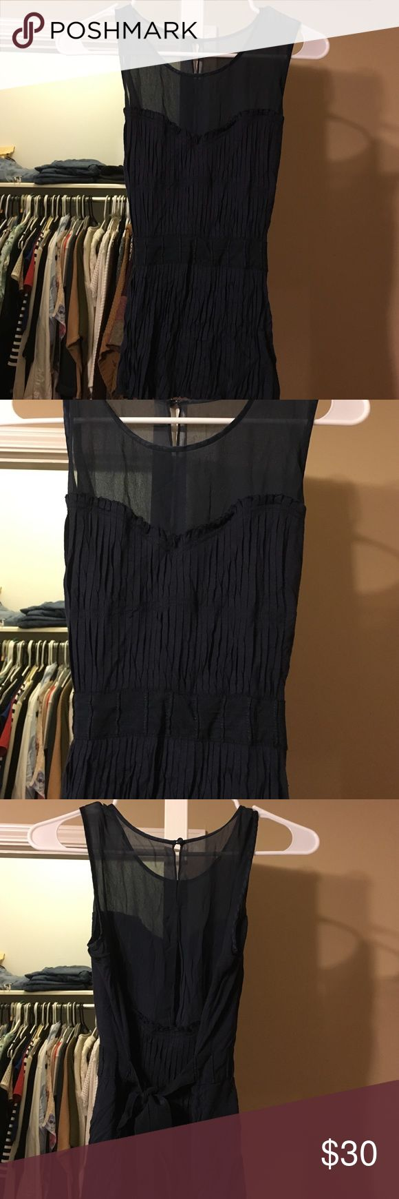 Bcbgmaxazria top Beautiful top with yolk lining and silk, ties in the back BCBGMaxAzria Tops Blouses
