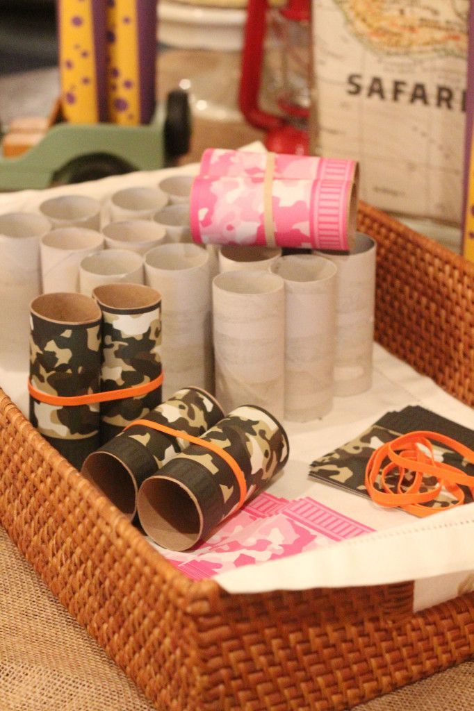 Safari Party | Box Play for Kids Camo Binoculars | Party Activity and Party Favors | Available in Green and Pink