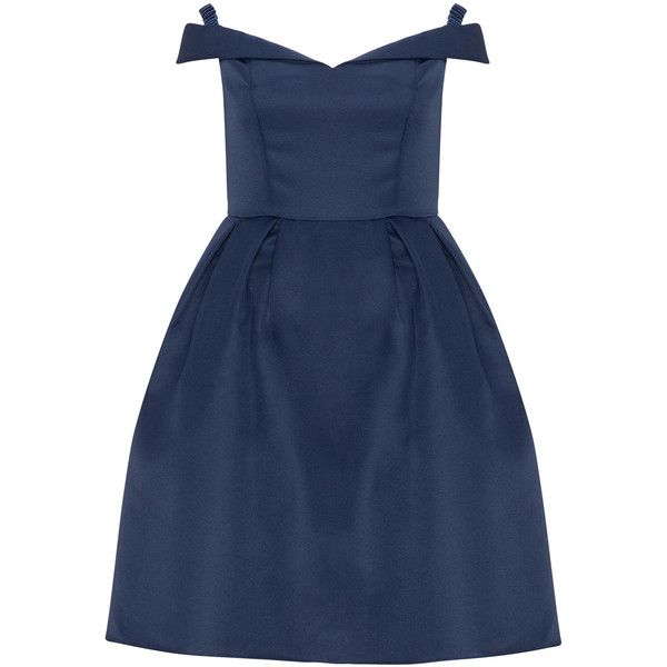 CHI CHI Curve Dark-Blue Plus Size Cold shoulder cocktail dress ($67) ❤ liked on Polyvore featuring dresses, plus size, women plus size dresses, graduation dresses, blue fit-and-flare dresses, blue cocktail dresses and plus size graduation dresses
