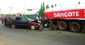 16 die in Lagos Ondo auto crashes   No fewer than 16 persons died on Thursday in separate auto accidents in Lagos and Ondo states.  In Lagos at the Abule Tailor bus stop end of the Lagos-Abeokuta Expressway a widow and trader Alhaja Fatima Adebambo died in a fatal accident involving a cement-laden truck with number plate XA 298 WNN and two other vehicles.  According to PUNCH the accident occurred after a Nissan Serena bus marked KTU 166 CX and another car marked LND 257 BP rammed into the…