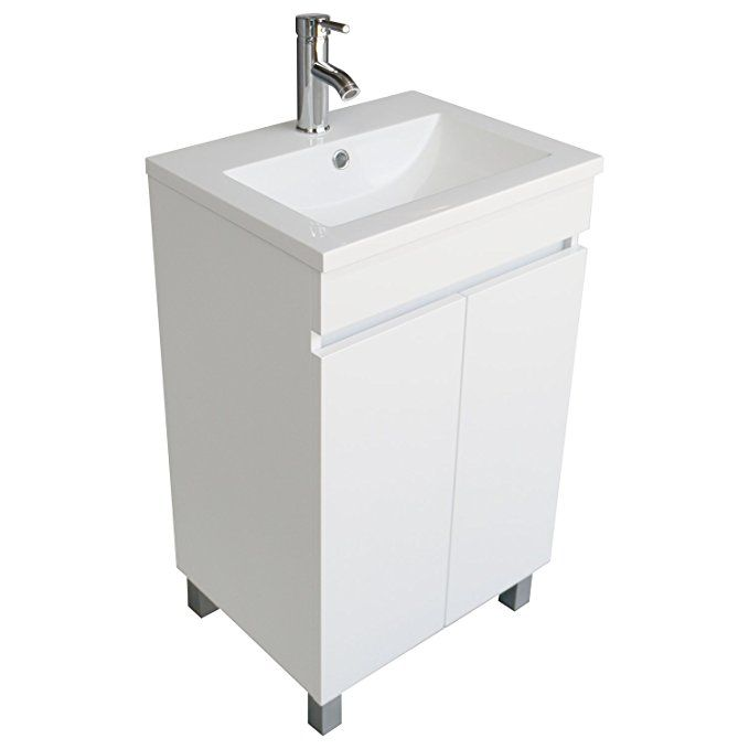 189 Bathjoy 20 Inch Black Single Wood Bathroom Vanity Cabinet With Undermount Vessel Sink Faucet Drain Comb Wood Bathroom Vanity Wood Bathroom Bathroom Vanity