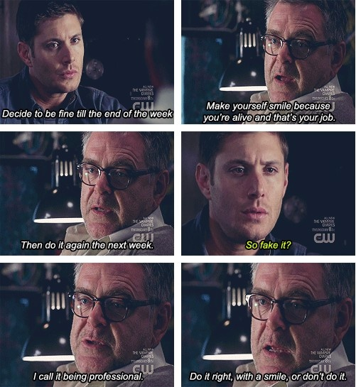 Supernatural Words of Wisdom (my favorite monologue--of all of them, and that's saying something)