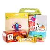 """Back to School Magic Pack for Him at Faithful to Nature: Starting a new school year is something your little ones attend to look forward to with mixed emotions! Get them off to a happy start with this six-piece Back to School """"survival kit"""" from our green team. The Back to School pack for boys includes a cute and colourful BPA-free lunchbox, with some healthy treats to pack inside it; gelatine-free gummy sweets, crunchy oat biscuits and a fruity food bar. Plus there's a set of non-toxic…"""