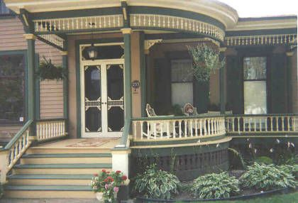 Italianate Home Front Porch Detail Screen Door Ideas