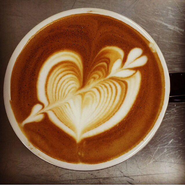 Wow, serious latte art