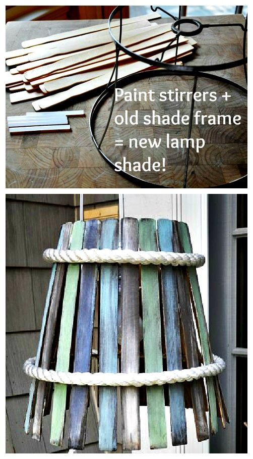 ReFab Diaries: Upcycle: Paint stirrer lamp shade
