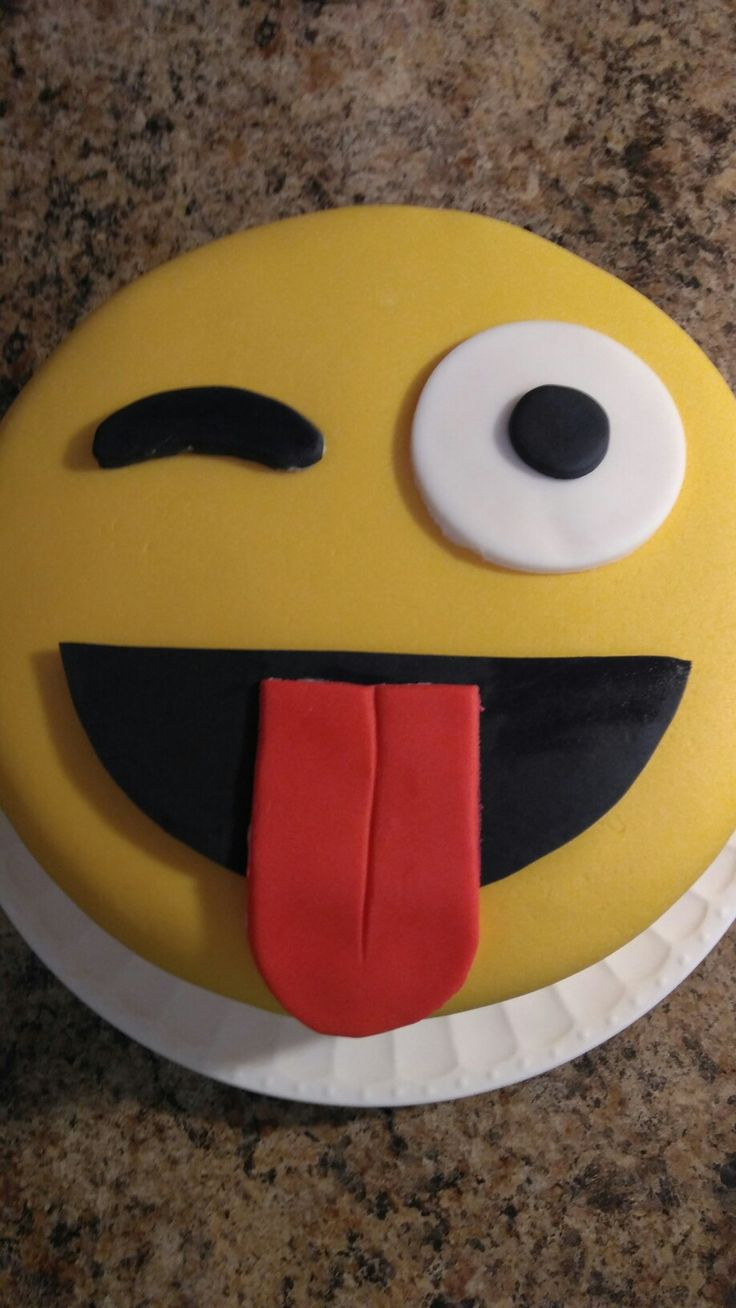 Melina's fondant emoji 13th birthday cake by Kevin and Mary.  8 inch 3 layer Beatty's Chocolate Cake with Nutella buttercream.