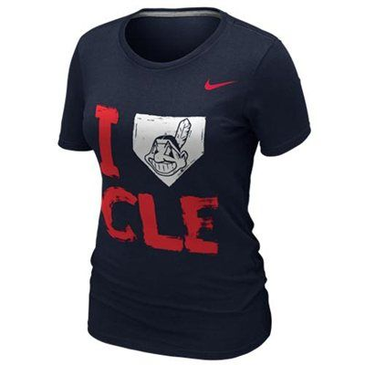 NEW ARRIVAL: Nike Cleveland Indians Ladies I Love Slim Fit T-Shirt