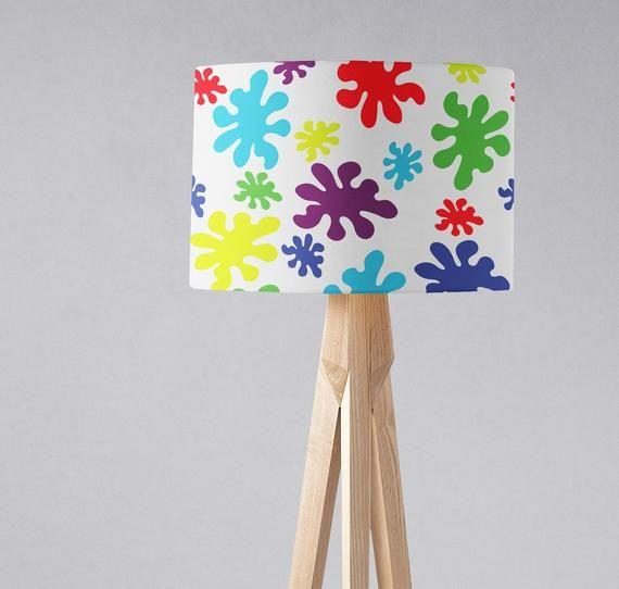 Paint Splash Lampshade Bright Lamp Shade Nursery Light Shade