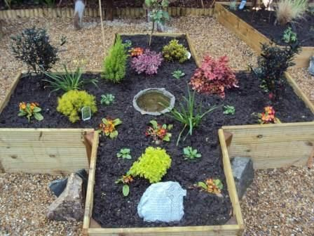 New school sensory garden and prayer garden