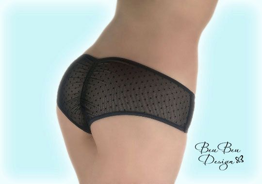 Just added! New sheer panties…a cheeky and sophisticated design in black with a scrunch back. #sheerfun