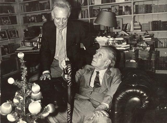 Borges todo el año: Jorge Luis Borges: Adolfo Bioy Casares, un relato admirable - Imagen: Jorge Luis Borges y Adolfo Bioy Casares compartiendo una Navidad. Fotografía de Héctor Atilio Carballo
